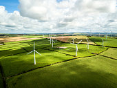Wind turbine fields in Cornwall