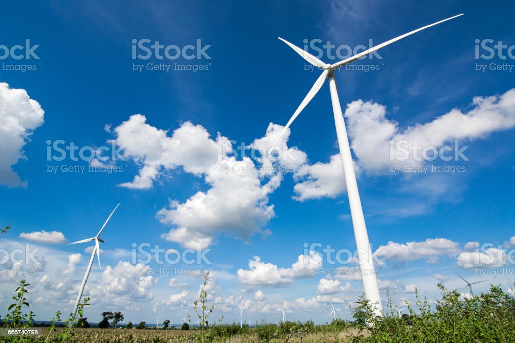 wind turbine for generated electricity foto stock royalty-free