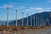 istock Wind Turbine generators or electricty producing windmills outside of Palm Springs, California 1222873780