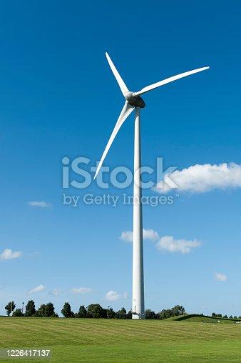 istock Wind turbine in a rural landscape 1226417137
