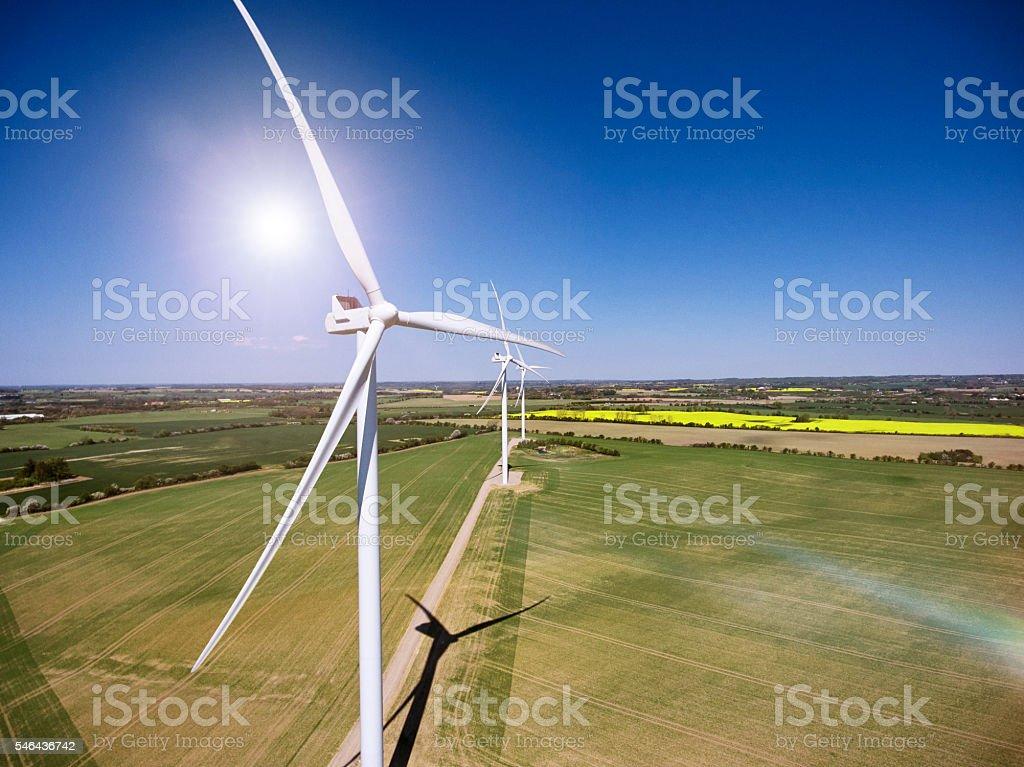 Wind Turbine in Denmark stock photo