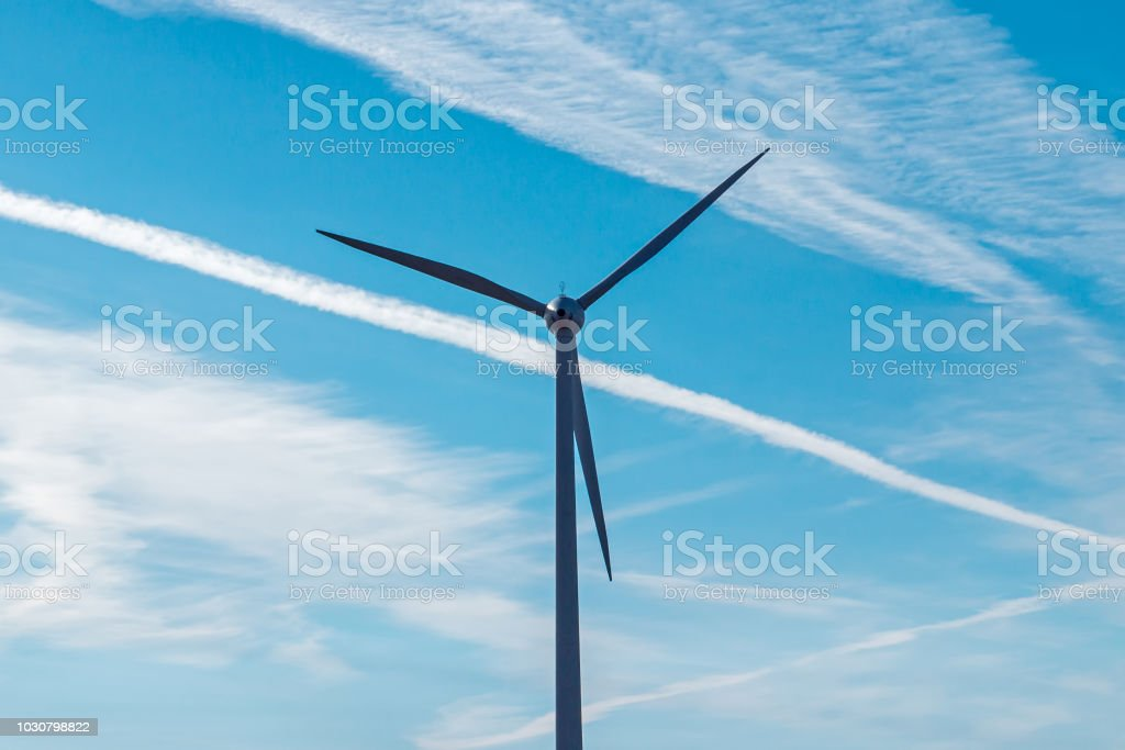 Wind Turbine In The Field Wind Generator Stock Photo
