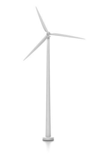 istock wind turbine isolated on white 171248350