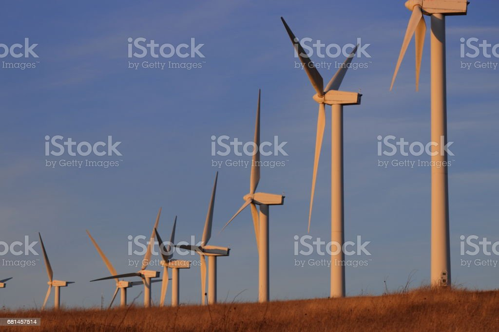 Wind turbine or wind mill or aeolian in Aude, France royalty-free stock photo