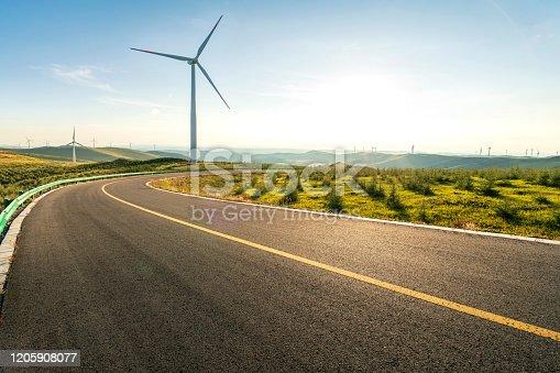 Wind Turbine and mountain