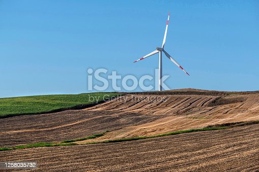 Windmills for electric power production in Turkey.
