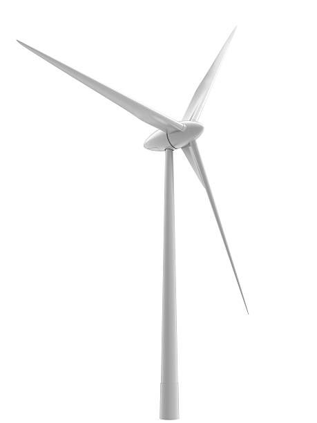 wind turbine high-quality image of wind turbine. Isolated on white windmill stock pictures, royalty-free photos & images