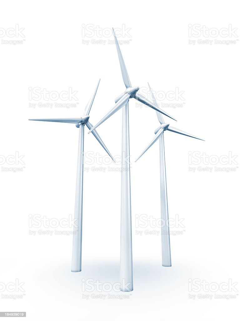 Wind turbine. stock photo
