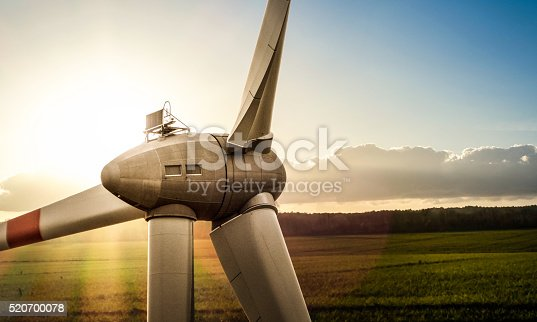 renewable energy - part of large wind turbine
