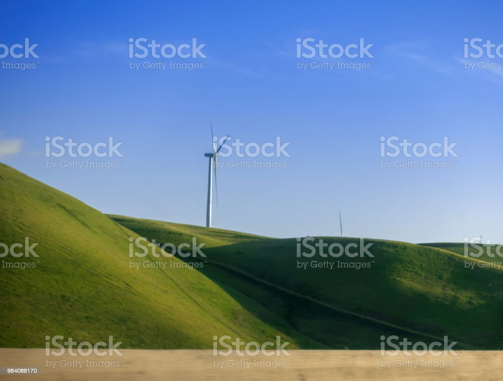 Wind Turbine - Royalty-free Aerial View Stock Photo
