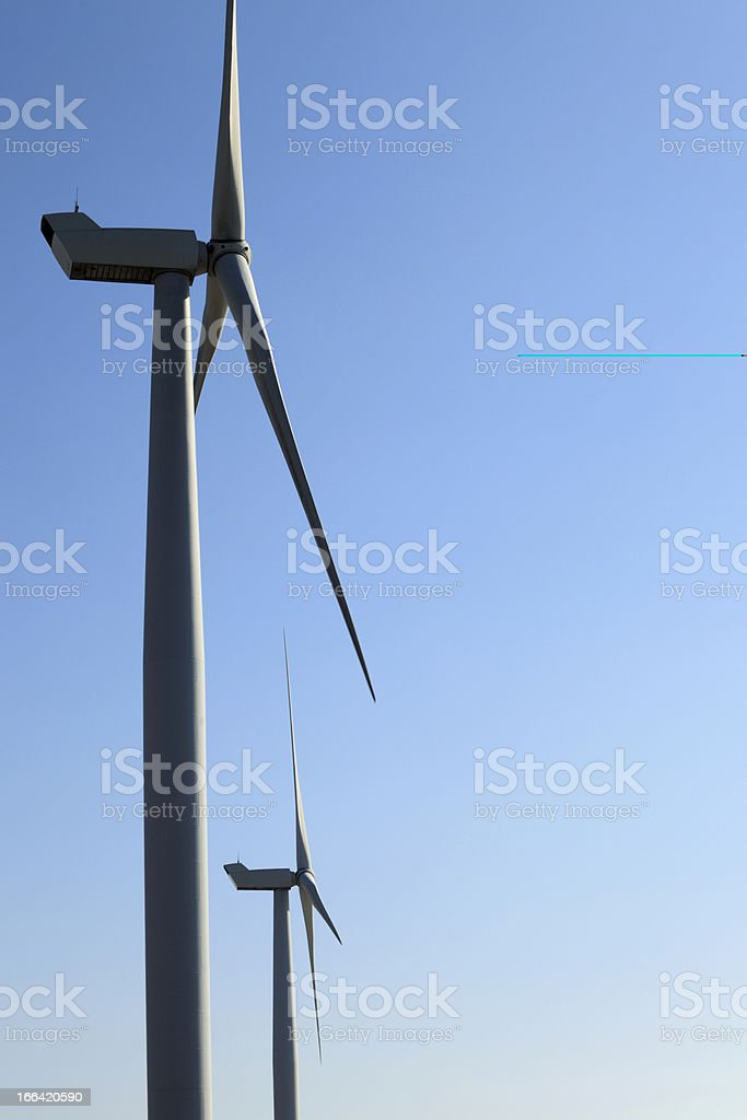 wind turbine power stations stock photo