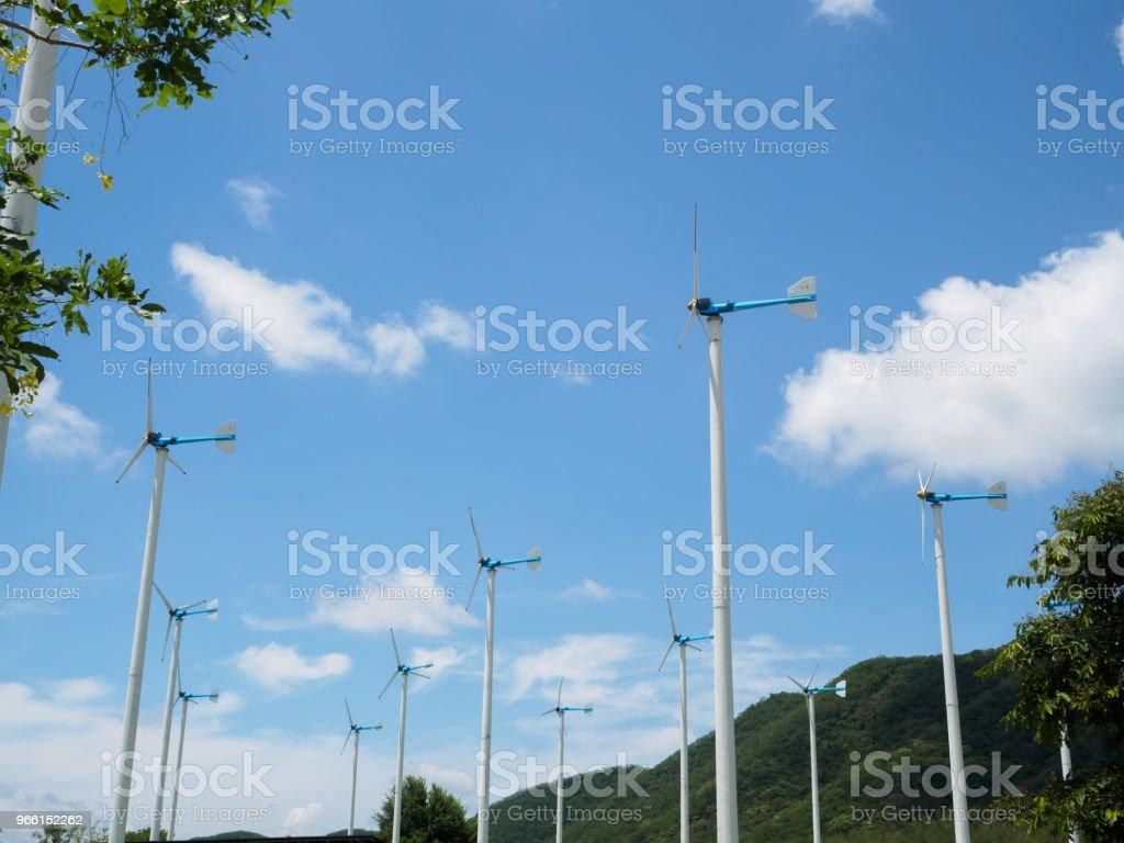 Wind turbine project , Hua Hin in Thailand - Royalty-free Development Stock Photo