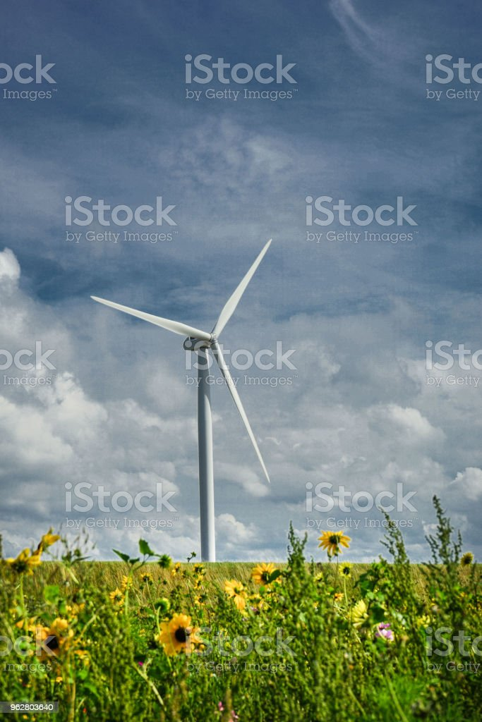 Wind Turbine - Stock image - Foto stock royalty-free di Affari finanza e industria