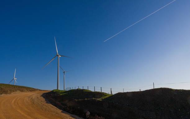 Wind Turbine Tarifa stock photo
