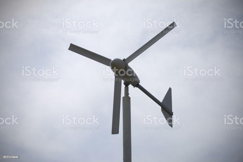 Wind Turbine Use For Make Energy Renewable Stock Photo
