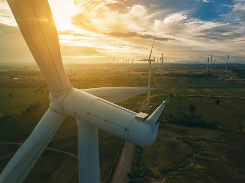 Turbina De Viento Concepto De La Energía Eólica Foto de stock y más banco de imágenes de Aerogenerador