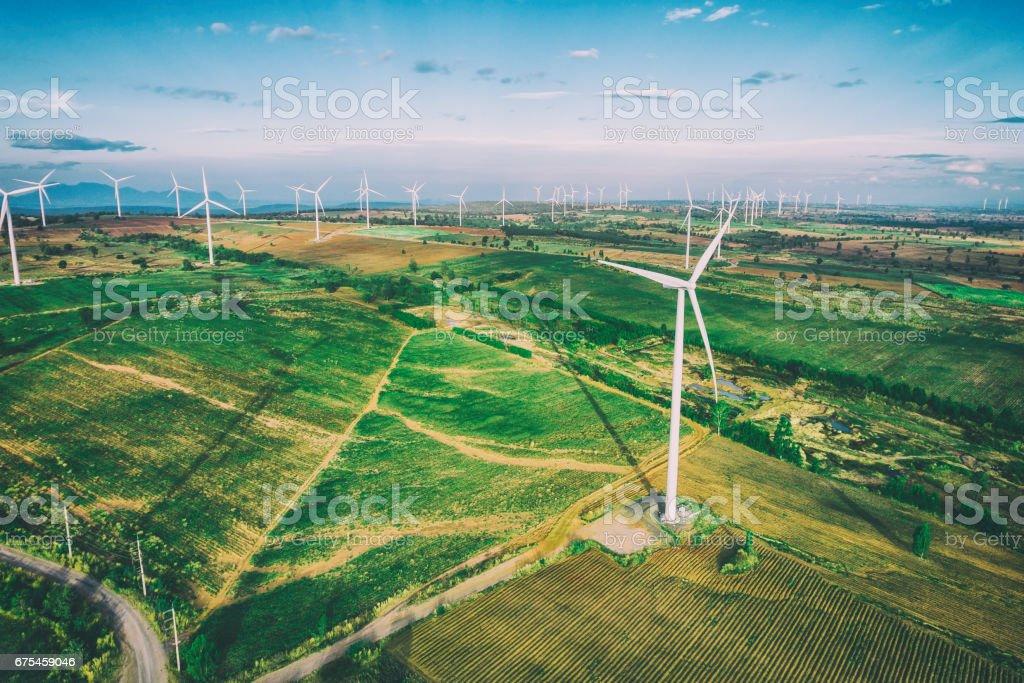 Éolienne, le Concept d'énergie éolienne. photo libre de droits