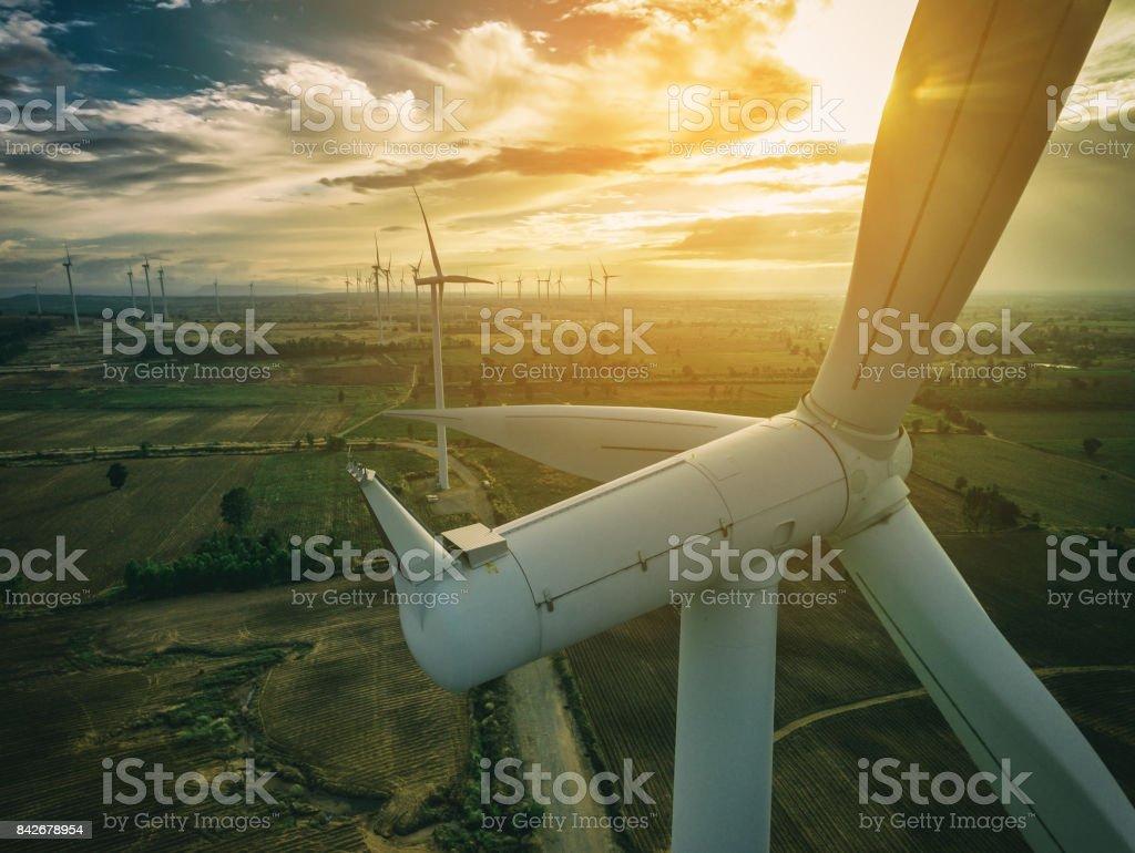 Wind Turbine, Wind Energy Concept. stock photo