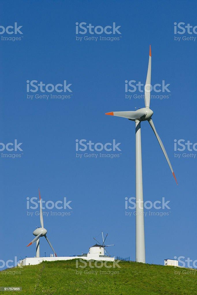 Wind Turbines 01 stock photo