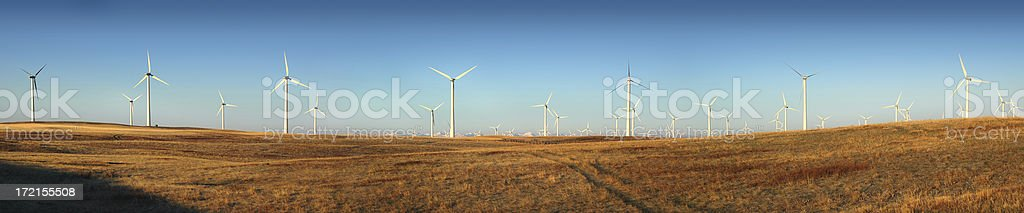 Wind Turbines 72 of Them stock photo