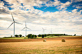 Wind energy is the energy of the wind, or the kinetic energy of a moving mass of air.