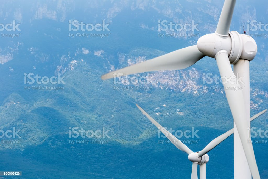 Wind-Turbinen-Nahaufnahme – Foto