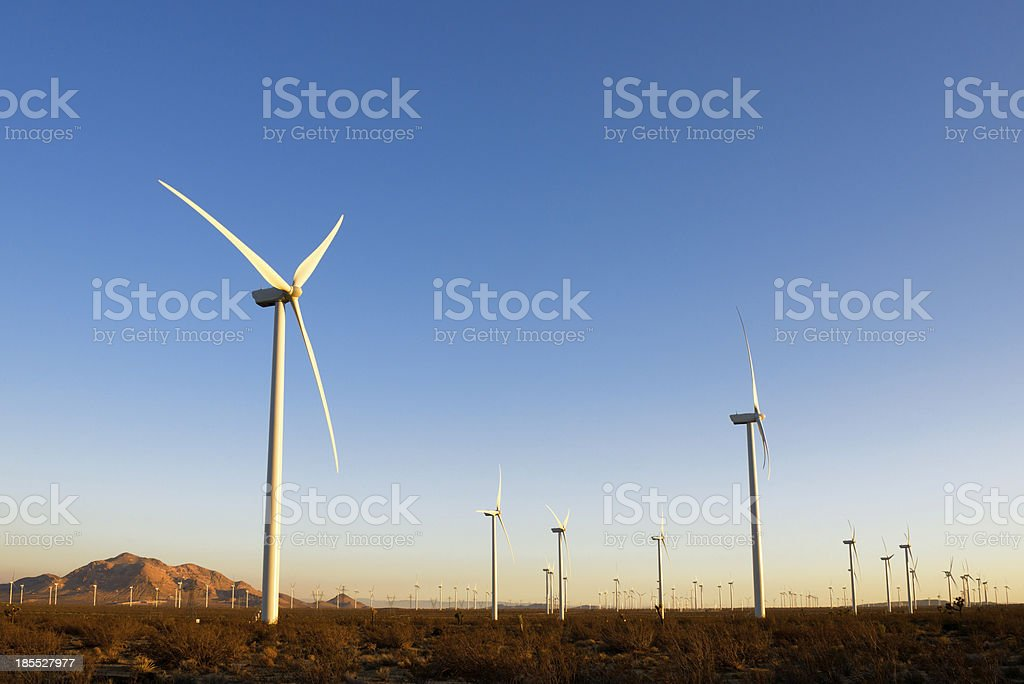 Wind Turbines during sunset royalty-free stock photo