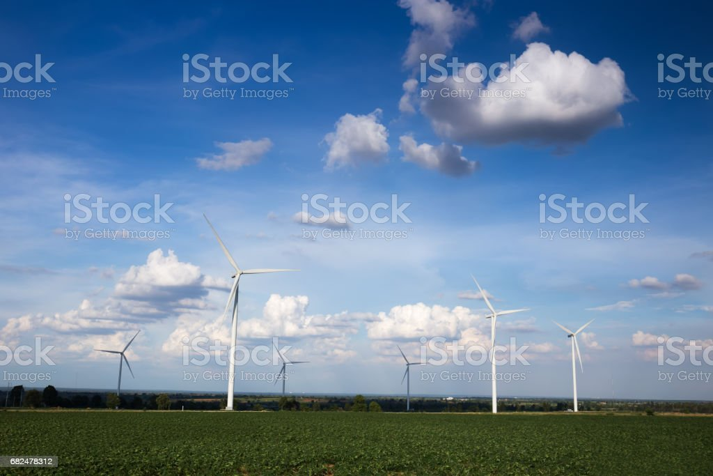 Wind turbines farm Lizenzfreies stock-foto