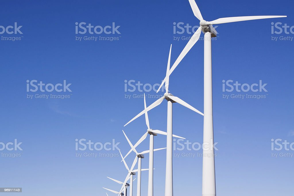 Wind turbines for clean environment royalty-free stock photo