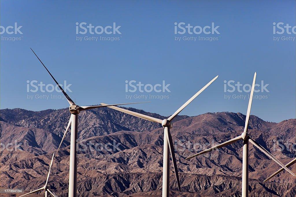 Wind Turbines Generating Renewable Energy royalty-free stock photo