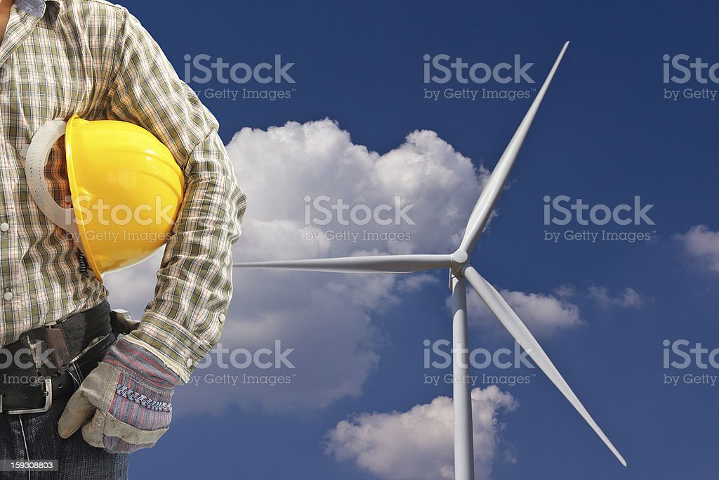 wind turbines Green Energy royalty-free stock photo