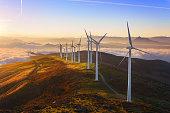 istock wind turbines in Oiz eolic park 505412046