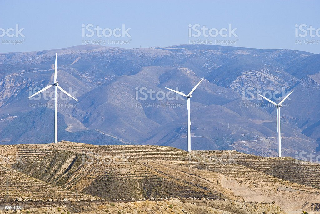 Wind Turbines in Spain royalty-free stock photo