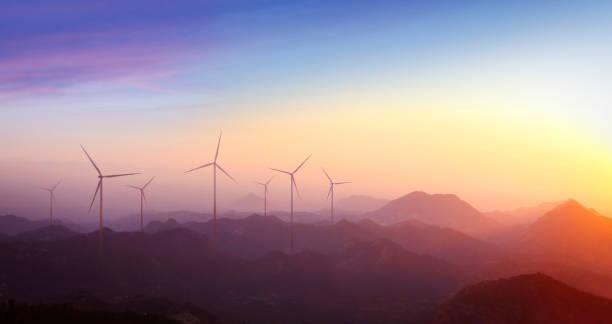 vindkraftverk i fjällen - miljö bildbanksfoton och bilder