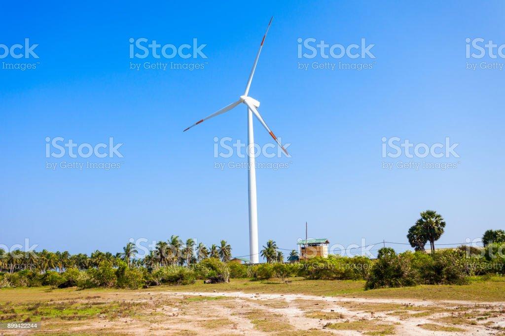 Wind turbines Kalpitiya, Sri Lanka stock photo