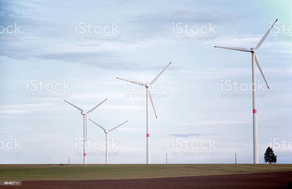 Turbine eoliche vicino Bastogne, Belgio foto stock royalty-free
