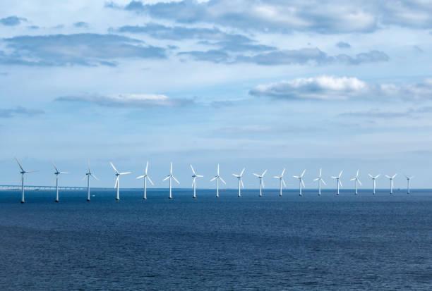 vindturbiner off copenhagen - öresund bildbanksfoton och bilder