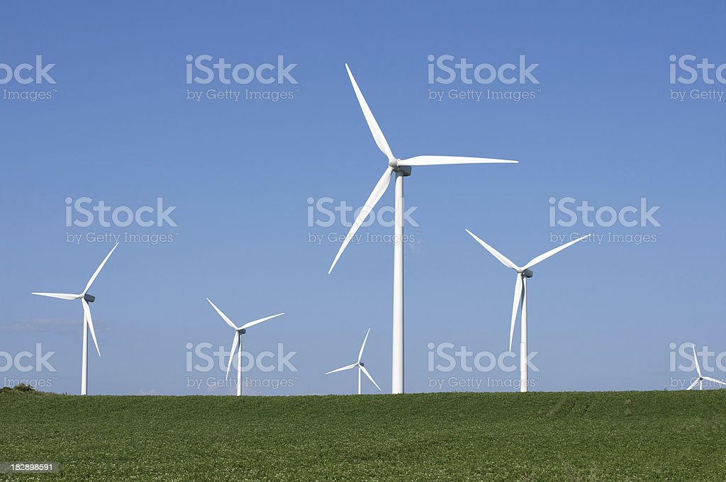 Wind Turbines on PEI stock photo