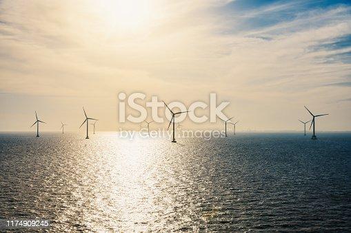 Wind Turbine, Sea, Wind, Environment, Shanghai