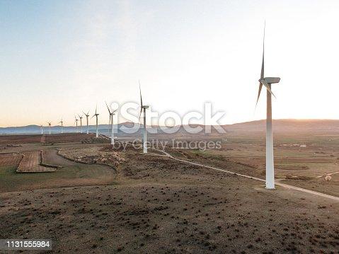 892160114 istock photo Wind turbines 1131555984