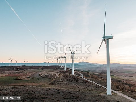 892160114 istock photo Wind turbines 1131557073