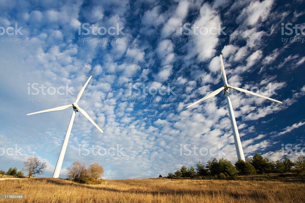 Wind turbines. royalty-free stock photo