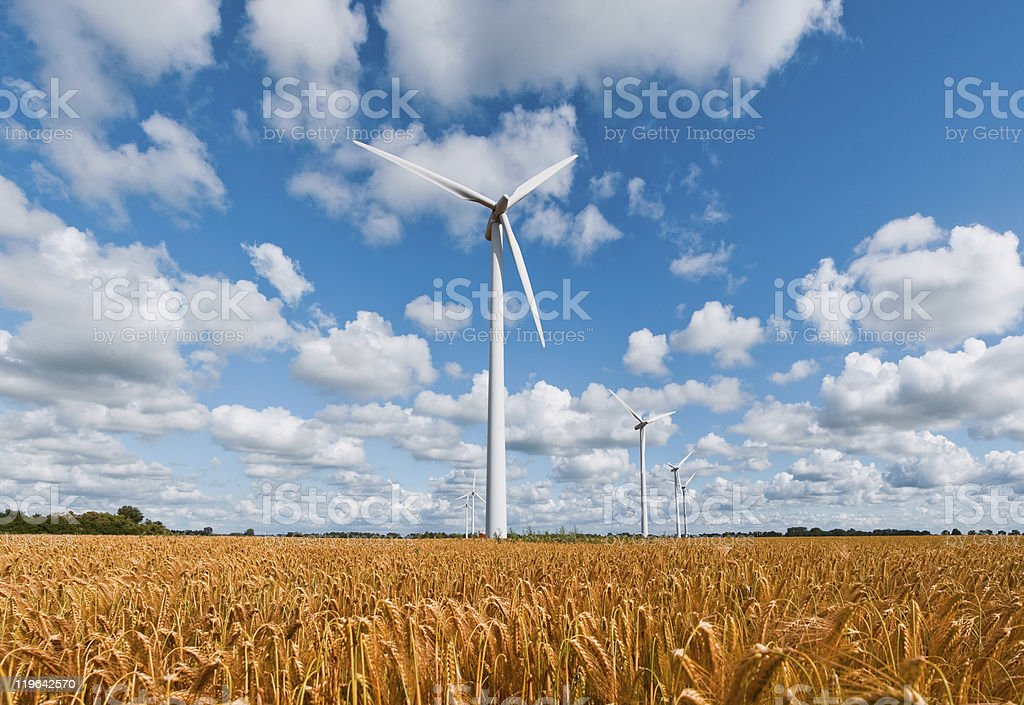 Wind Turbines royalty-free stock photo