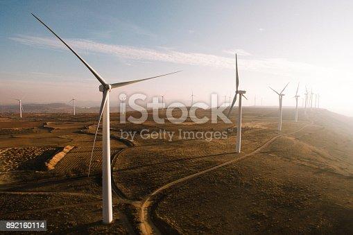 892160114 istock photo Wind turbines 892160114