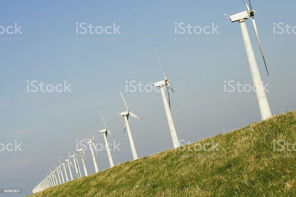 Wind turbines # 8 royalty-free stock photo