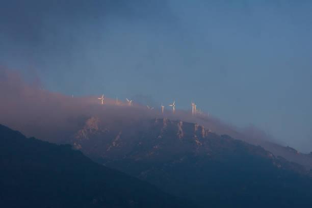 Wind Turbines, Tarifa stock photo
