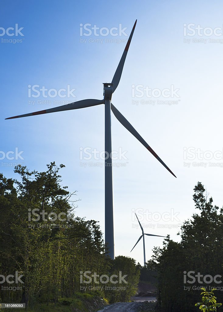 Wind Turbines, Vertical royalty-free stock photo