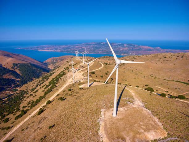 Wind turbines - Windmills stock photo