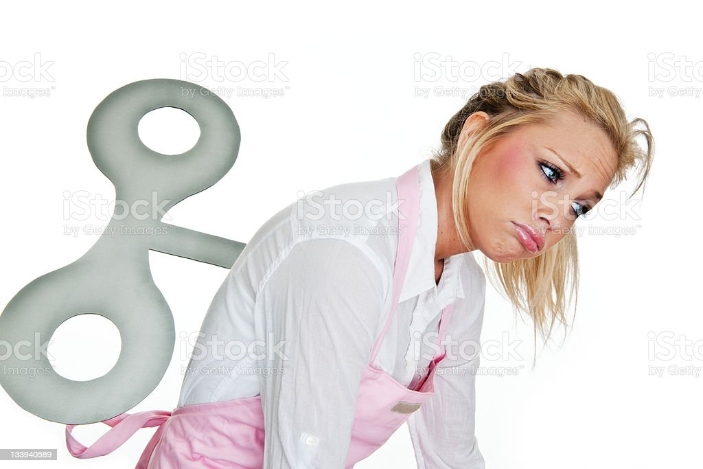wind up housewife royalty-free stock photo