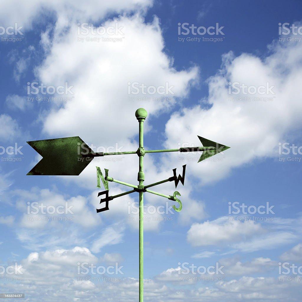 XL wind vane stock photo